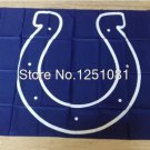 Indianapolis Colts logo Flag 3ft x 5ft 100D Polyester Banner flag 90x150cm