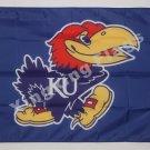 Kansas Jayhawks Flag 3ftx5ft Banner 100D Polyester NCAA Flag