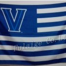 Villanova Wildcats with stripes Flag 3ft x 5ft Polyester Banner 90x150cm metal grommets