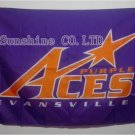 Evansville Purple Aces Flag 3ftx5ft Banner 100D Polyester NHL Flag