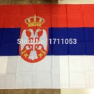 Serbia National Flag 3x5ft 150x90cm 100D Polyester