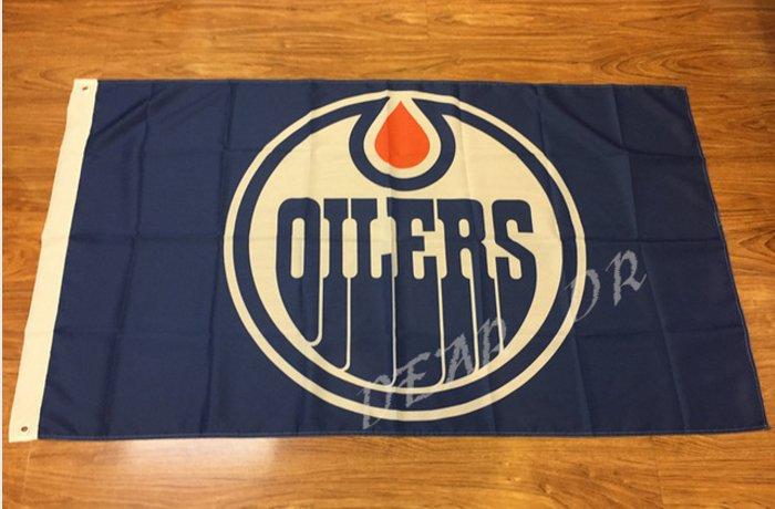 Edmonton Oilers Flag 3ftx5ft Banner 100D Polyester NHL Flag