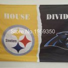 Pittsburgh Steelers vs. Carolina Panthers House Divided Rivalry Flag 90x150cm 3x5 ft
