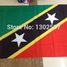 Saint Kitts and Nevis National Flag 3x5ft 150x90cm 100D Polyester