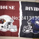 Arizona Cardinals vs Seattle Sea hawks House Divided Rivalry Flag 90x150cm metal grommets