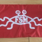 Flying Spaghetti Monster Flag, New, Red & White, 3x5ft Polyester