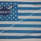 Charlotte Hornets Nation Flag 3ft x 5ft Polyester white sleeve with 2 metal Grommets 90x150cm
