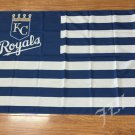 Kansas City Royals Flag 3ft x 5ft Polyester MLB Banner Flying with stripes