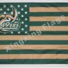 North Carolina Charlotte 49e 3ftx5ft Banner 100D Polyester Flag metal Grommets 90x150cm