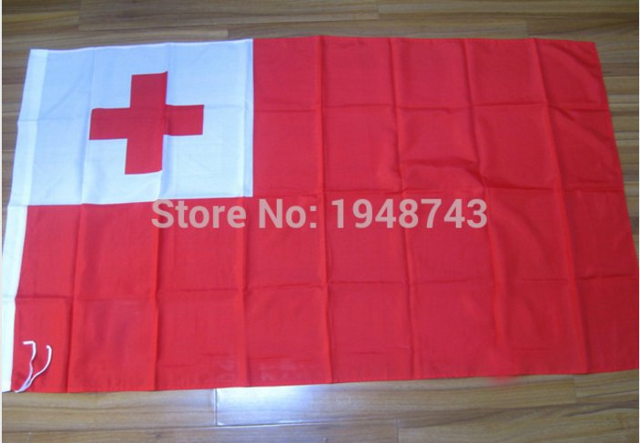 Tonga National Flag 3x5ft 150x90cm 100D Polyester