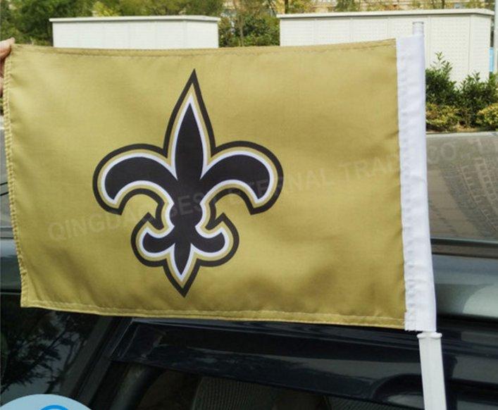 NFL New Orleans Saint car flag