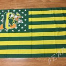 Oregon Ducks logo with US stars and stripes Flag 3FTx5FT Banner style 2