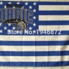 Orlando Magic logo with US stars and stripes Flag 3FTx5FT Banner 100D Polyester flag 90x150cm