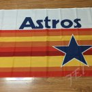 Astros logo with start Flag 3ft x 5ft Polyester Banner 90x150cm metal grommets