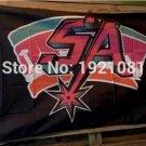 SAN Antonio spurssa retro flag 3FTx5FT 150X90CM Banner 100D Polyester flag grommets