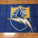 San Diego Chargers car flag 12x18 inches double sided 100D Polyester NFL