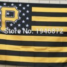 Pittsburgh Pirates Flag with starts and stripes3ft x 5ft Polyester fans flags