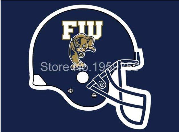 Florida International Golden Panthers Helmet Flag 90x150cm Banner style 1