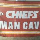 Kansas City Cheifs man cave flag 3ftx5ft Banner 100D Polyester Flag metal Grommets