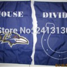Baltimore Ravens vsIndianapolis Colts House Divided Rivalry Flag 90x150cm metal grommets