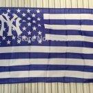 New York Yankees logo with stars and stripes Flag 3FTx5FT Banner 100D Polyester flag 90x150cm