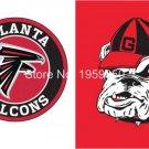 Atlanta Falcons vs Georgia Bulldogs Flag 3ft x 5ft Polyester Banner