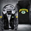 Green Bay Packers Zipper Jacket Thicken Hoodie Coat Clothing Casual USA Size