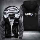 New England Patriots Zipper Jacket Thicken Hoodie Coat Clothing Casual USA Size