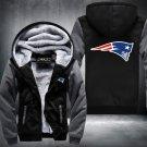 New England Patriots Hoodies Zip Up Super Warm Thicken Fleece Men's Coat USA plus size