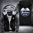 New York Yankees Hoodies Zip Up Super Warm Thicken Fleece Men's Coat USA plus size