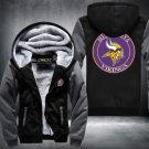 Minnesota Vikings Hoodies Zip Up Super Warm Thicken Fleece Men's Coat USA plus size