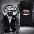 Triumph Motorcycle Hoodies Zip Up Super Warm Fleece Men's Coat USA plus size