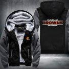 Cleveland Browns Hoodies Zip Up Super Warm Thicken Fleece Men's Coat US plus size