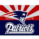 New England Patriots flags 90x150cm polyester with 2 Metal Grommets 3x5ft