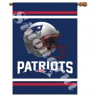 """New England Patriots Team Garden flag kintted polyester double sides 13""""X18"""""""