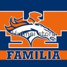 3x5ft Denver Broncos flag 90x150cm Familia style digital print custom