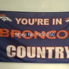 Denver Broncos Flag 3ftx5ft Banner 100D Polyester flag 90x150cm 4010