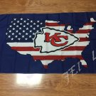 New style 3x5FT Kansas City Chiefs flag with American banner flag