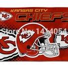 Kansas City Chiefs Helmet logo Flag 150X90CM Banner 100D Polyester3x5 FT