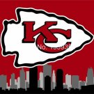 Kansas City Chiefs Large Outdoor KC 3 x 5ft Banner Flag 90x150cm 2 metal grommets