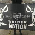 Oakland Raiders Nation Banner Flag Custom Colors World Series 3ft X 5ft