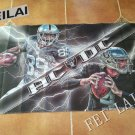 Oakland Raiders player black flag by 3ftx5ft flag with metal Grommets