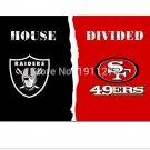 3x5 ft Oakland Raiders VS San Francisco 49ers house divided flag 150x90cm