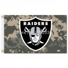 Digital Camouflage Oakland Raiders Flag Camouflage Sport Banner 3ft X 5ft