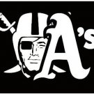 Oakland Athletics and Oakland Raiders flag 3x5ft flag polyester flag with 2 Metal Grommets