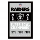 Oakland Raiders Super Bowl Champions Flag 3ft x 5ft Polyester flag