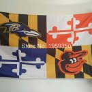 Baltimore Ravens Baltimore Orioles Maryland Flying Flag Banner  flag 3ft x 5ft