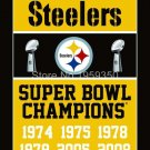 Pittsburgh Steelers Super Bowl Champions Flag 3ft x 5ft Polyester flag