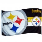 Pittsburgh Steelers two logo Flag 150X90CM Banner 100D Polyester3x5 F