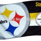 Pittsburgh Steelers two logo Flag 3x5 FT 150X90CM NFL Banner 100D Polyester